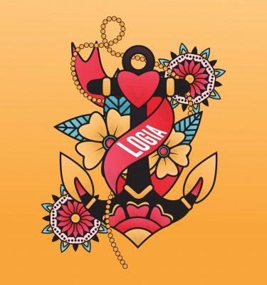 Diseño tarjeta regalo Logia colours