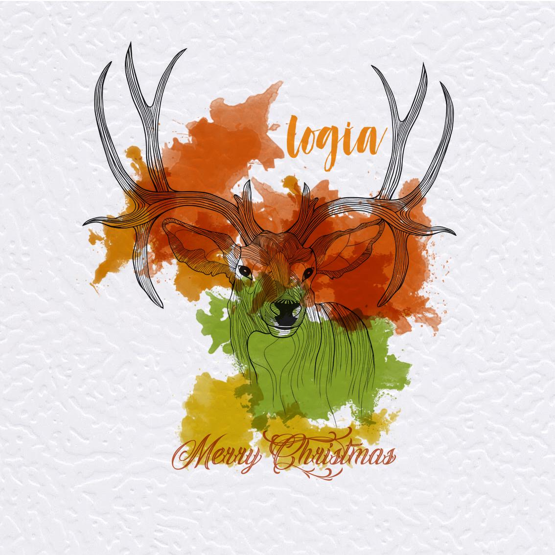 Diseño tarjeta regalo Logia - Navidad-Reno