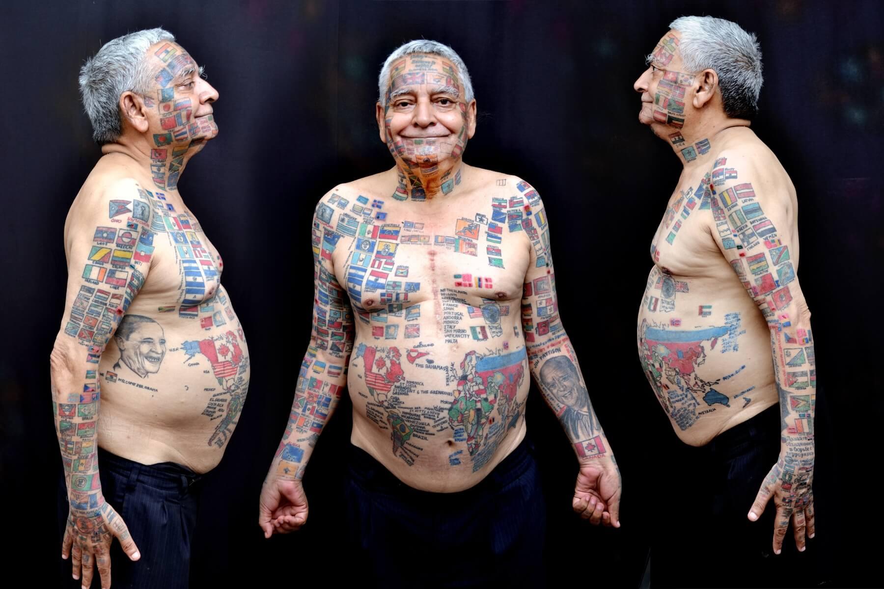Тату на старом теле женщины фото