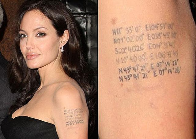 Tatuaje curioso Angelina Jolie