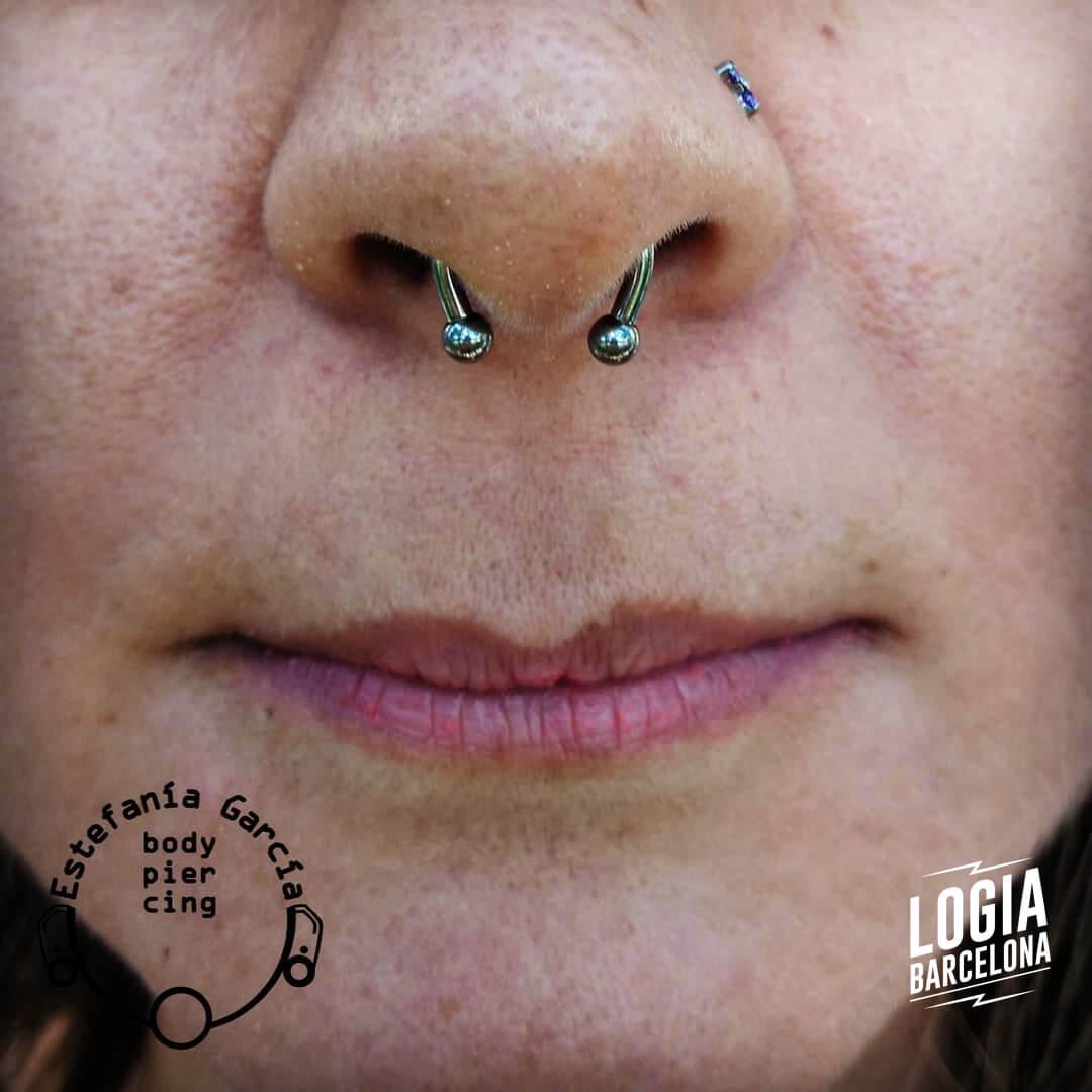 nostril piercing septum piercing logia barcelona