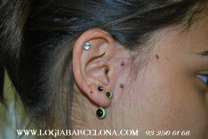 Partes de la oreja en las que llevar un piercing