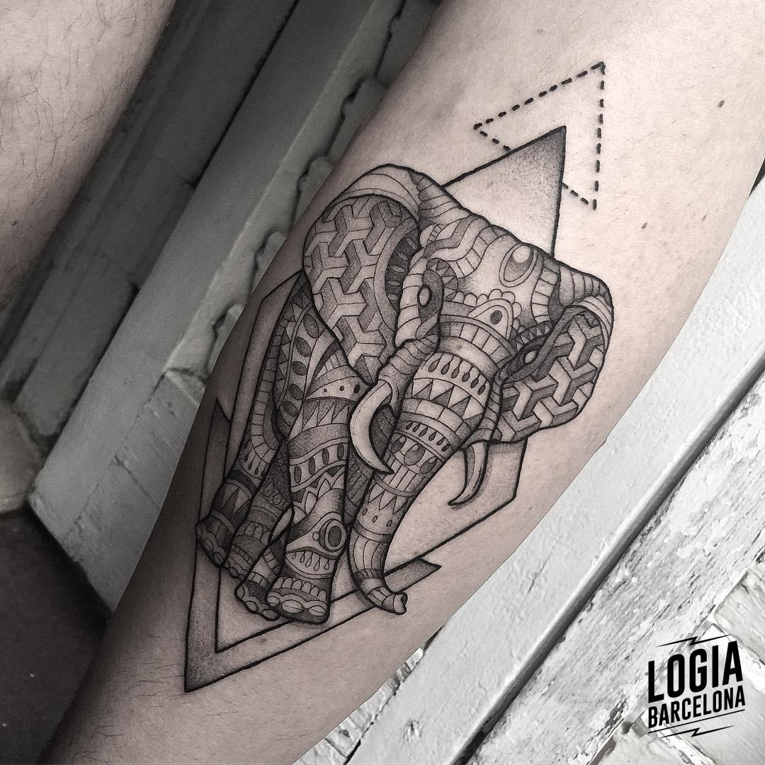 tatuaje elefante hindu Logia Barcelona