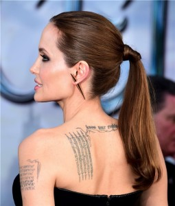 Tattoo Angelina Jolie