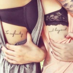 Tatuaje frase hermanas