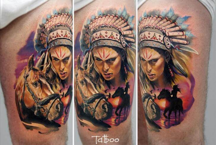 indian tattoo apache