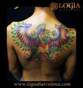 Tatuaje Ave Fénix Tatuajes Logia Barcelona