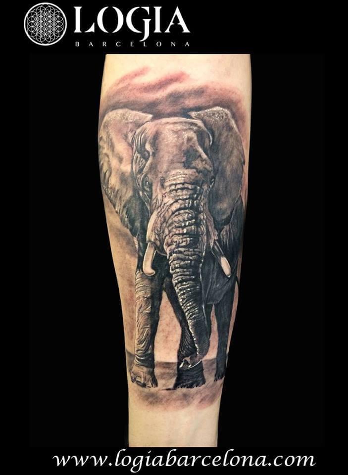 Tatuajes De Elefantes Y Elefantes Con Mandalas Logia Tattoo Barcelona