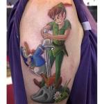Los tatuajes de dibujos animados