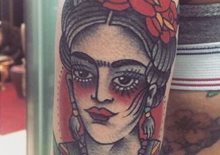 Tatuaje Inspirado En Frida Kahlo Tatuajes Logia Barcelona