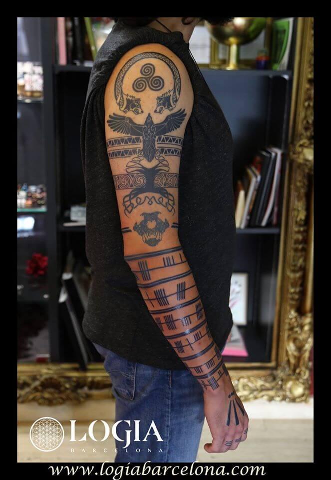 Tatuajes De Brazaletes Tatuajes Logia Barcelona - Tattoo-brazaletes