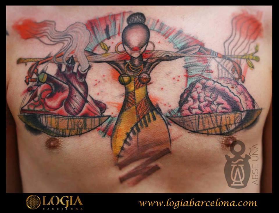 Tatuajes en el pecho - | Tatuajes Logia Barcelona