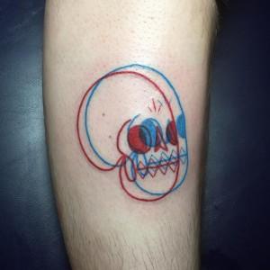 Tatuaje Calaveras 3D