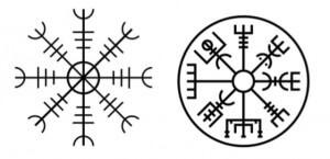 tatuajes runas vikingas - Ægishjálmr tattoo, vegvisir tattoo