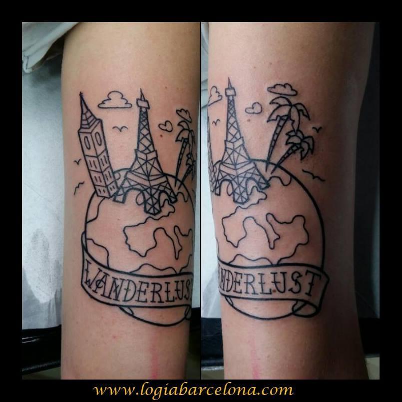 Tatuajes De Viajeros Tatuajes Logia Barcelona