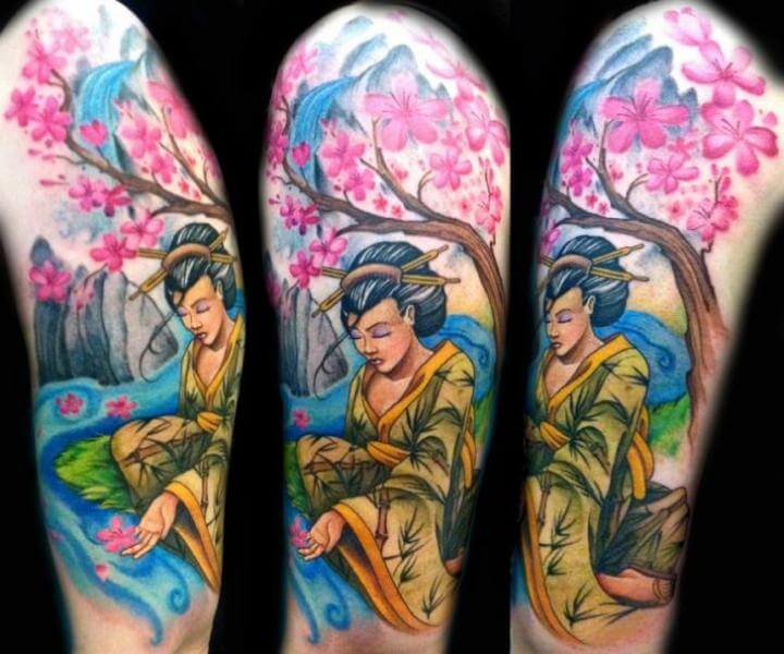 Tatuajes de geishas tatuajes logia barcelona - Tattoos geishas japonesas ...