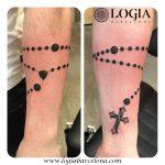 Tatuajes de rosarios