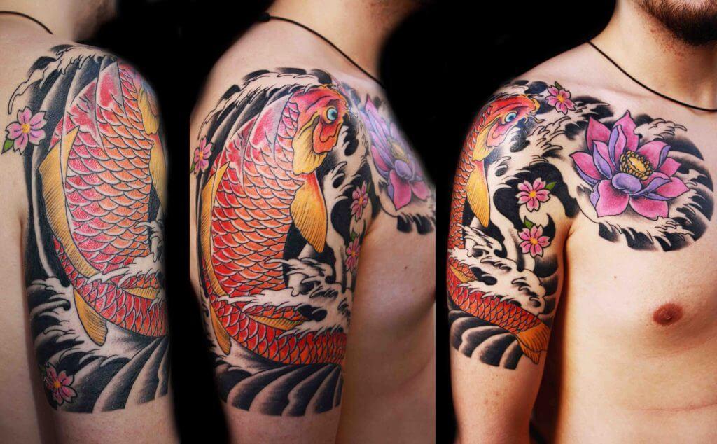 koi carp fish tattoos