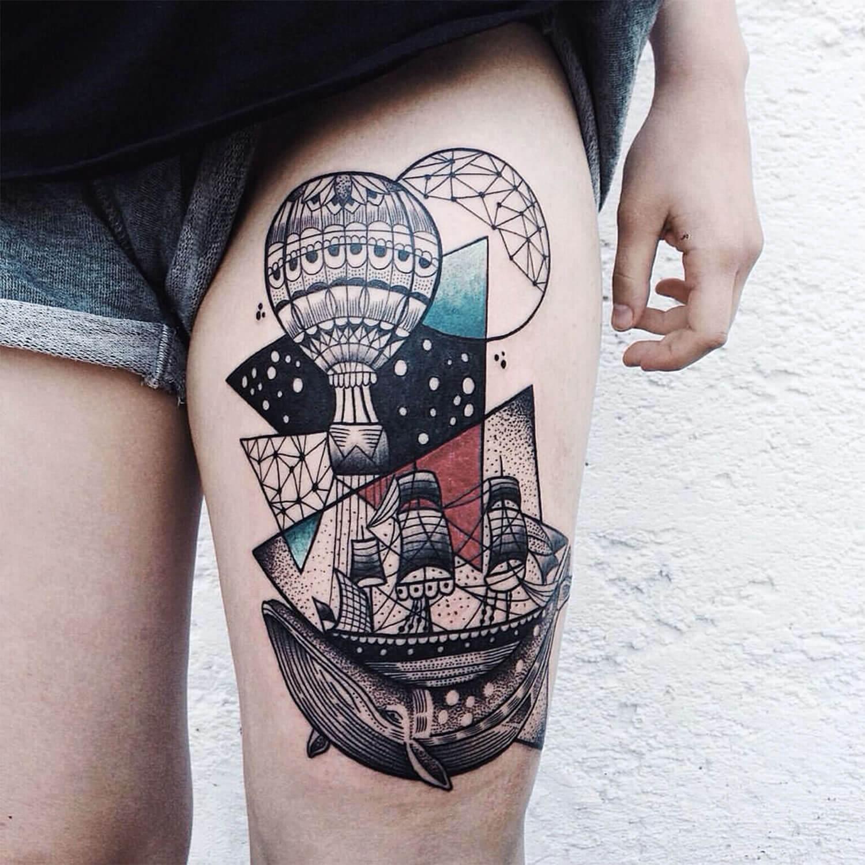 Tatuajes de globos aerost ticos para dejar volar tu - Tatuajes de pared ...