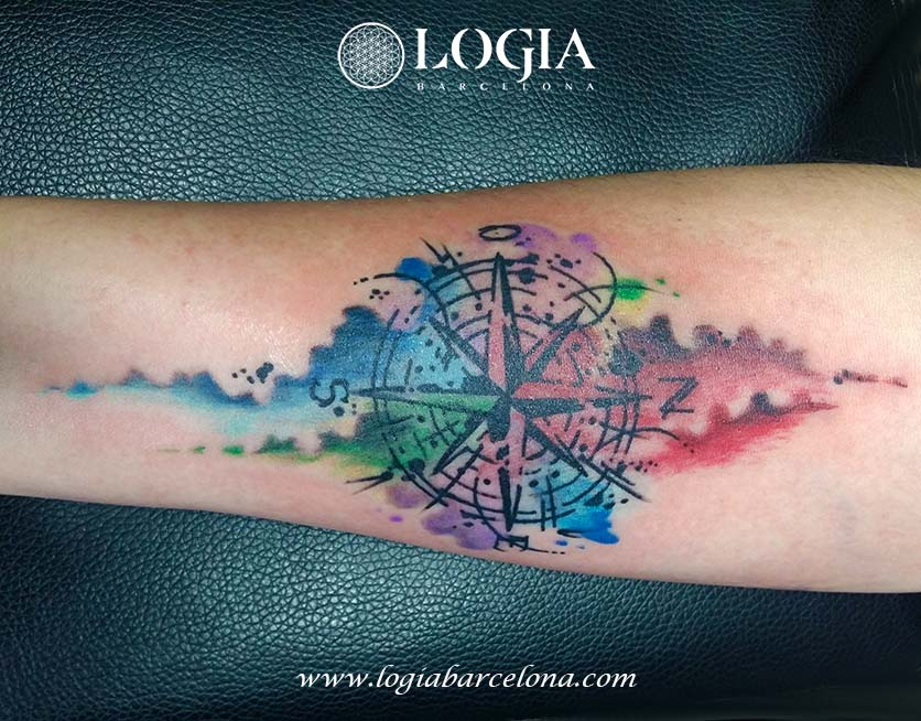 tatuatge aquarela Logia Barcelona