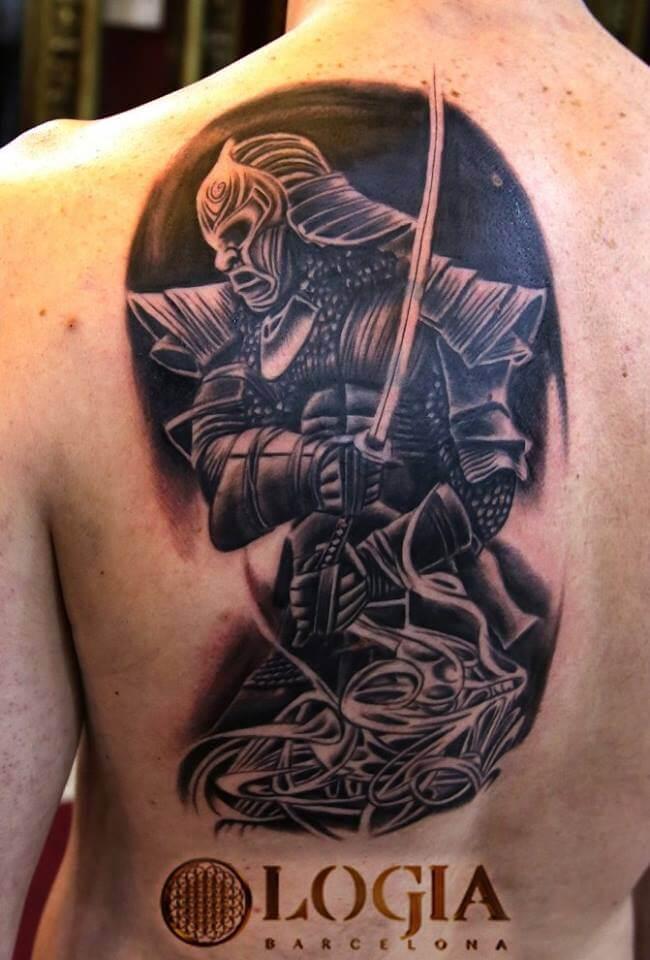 Tatuajes En La Espalda Tatuajes Logia Barcelona