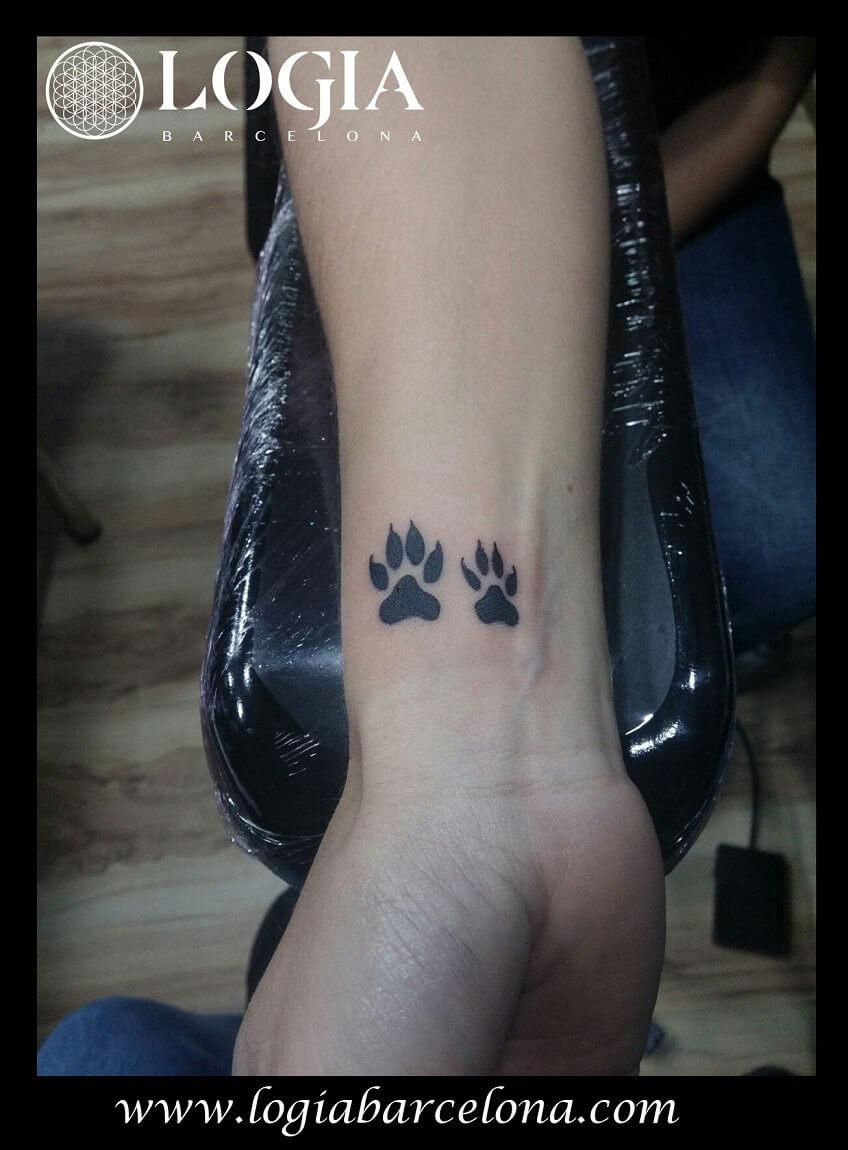 Tatuajes De Huellas De Animales Tatuajes Logia Barcelona