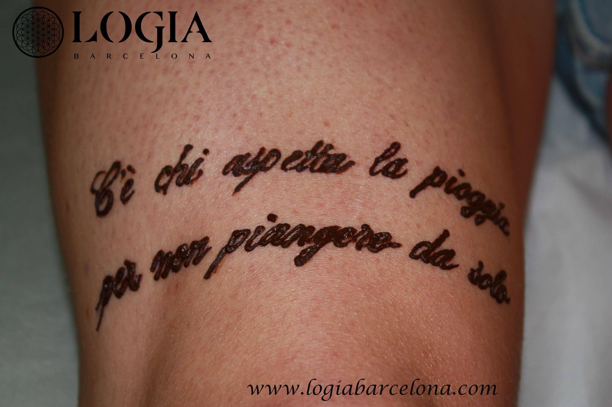 Tatuajes En Italiano Tatuajes Logia Barcelona