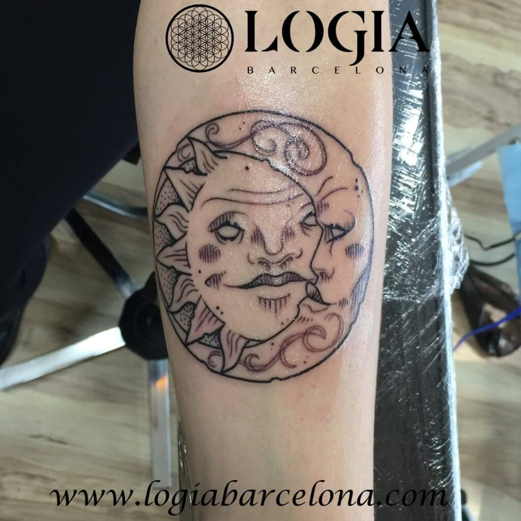 tatuaje sol y luna mitologico logia barcelona