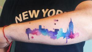 tatuaje skyline nueva york