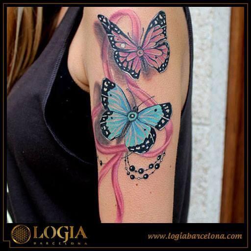 Tatuajes de Mariposas Tatuajes Logia Barcelona