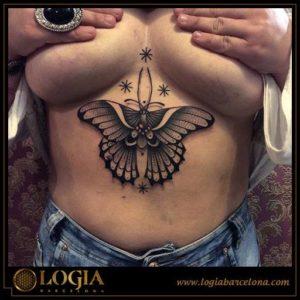 Tatuajes de mariposas b/w