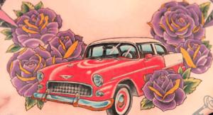 tatuaje coche vintage