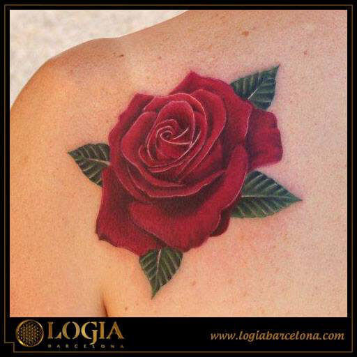 Tatuajes de rosas en color y su significado logia tattoo for Tattoo de flores