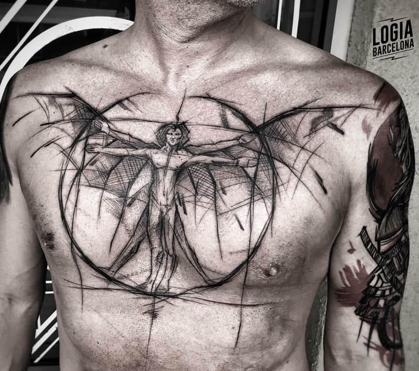 Tatuajes sketch blackwork  Inez Janiak Logia Barcelona