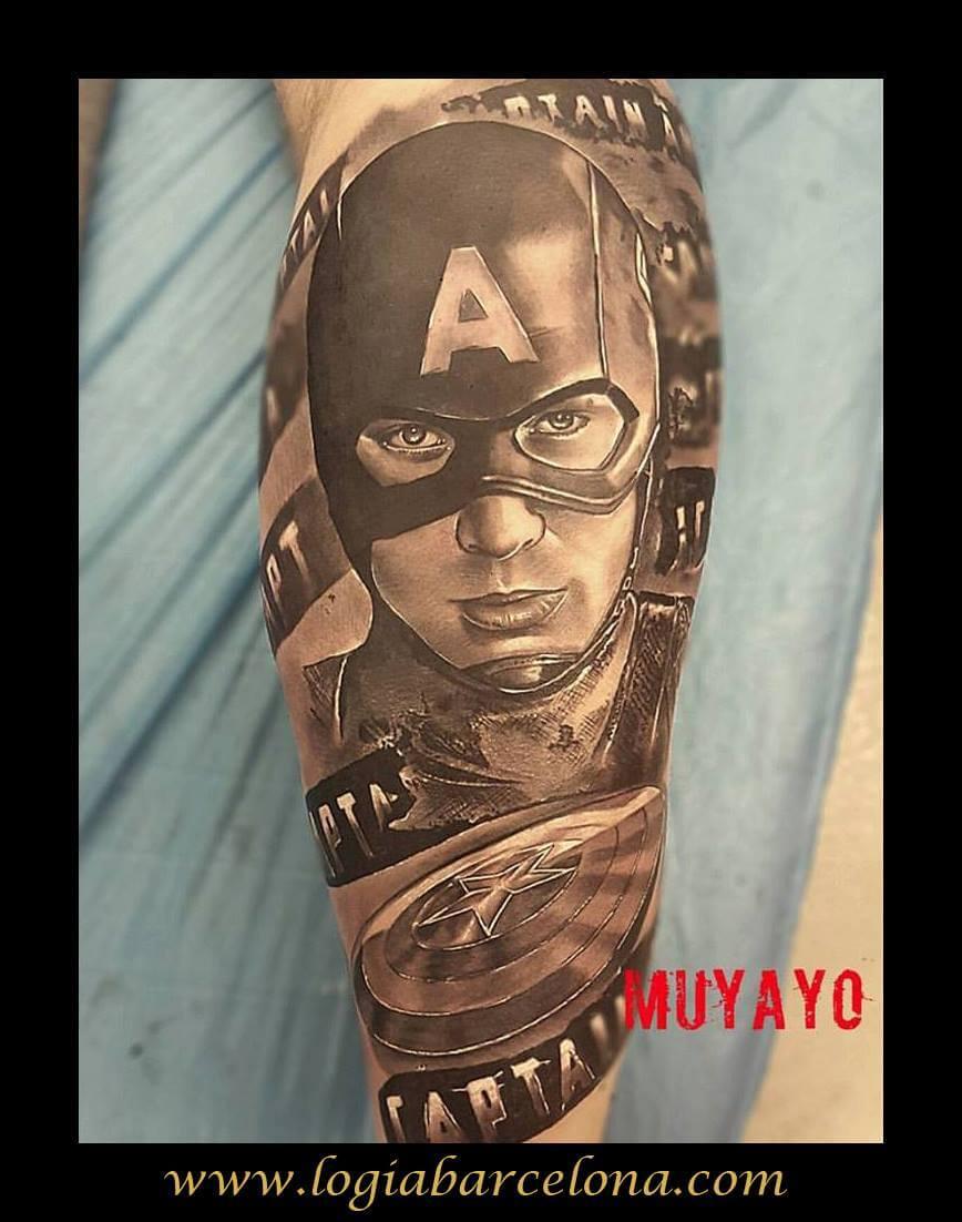 Tatuajes de los héroes del comic