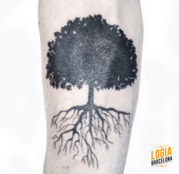 Tatuaje del arbol de la vida Logia Barcelona