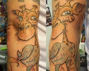 Tatuajes de animales híbridos