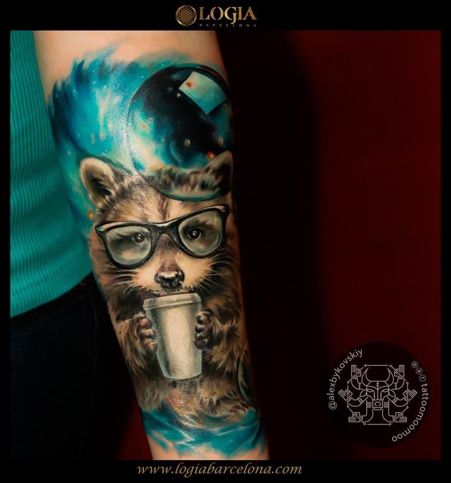 Tatuajes de mapaches