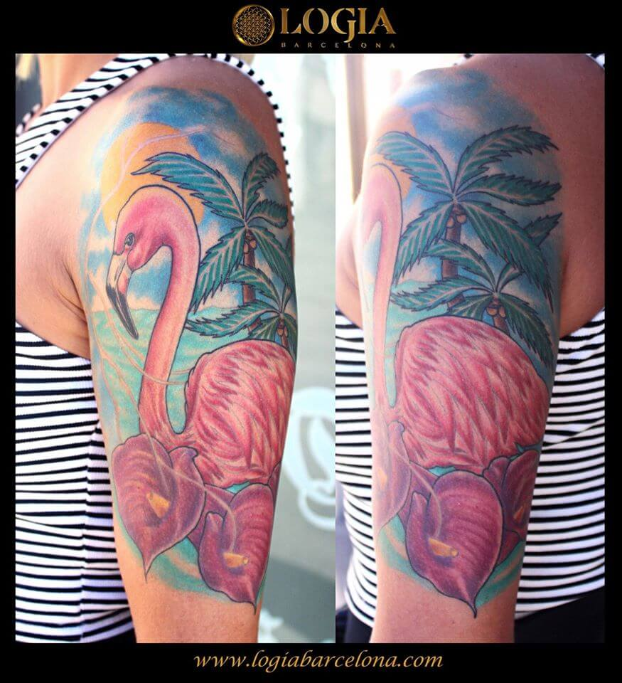 Tattoos of palm trees