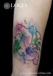 tattoo logia acuarela