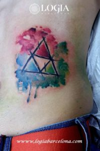 tatuaje acuarela figura