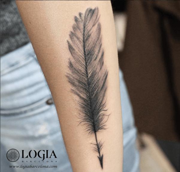 Tatuajes De Plumas Tatuajes Logia Barcelona