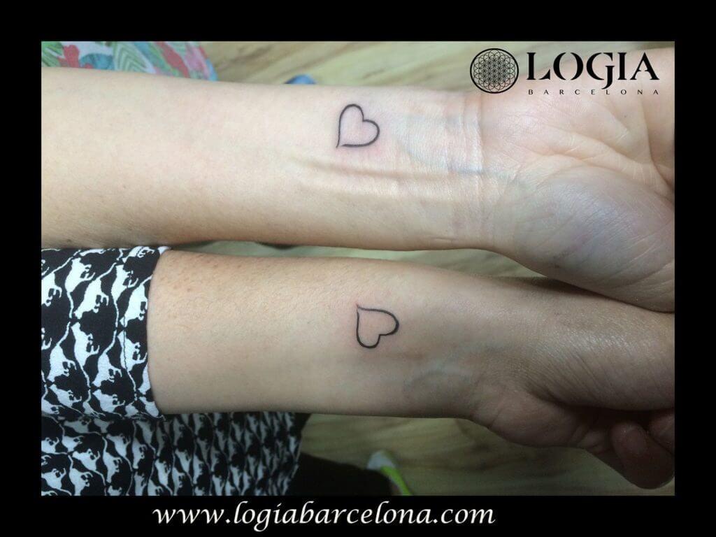 tatuajes madre e hija corazon logia barcelona