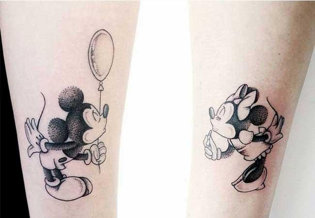 Tatuajes de Mickey y Minnie Mouse - | Tatuajes Logia Barcelona