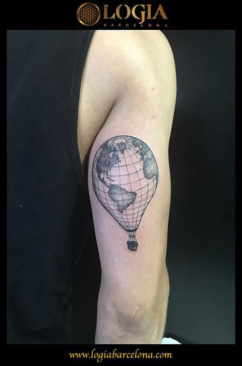 Tatuajes mapamundi