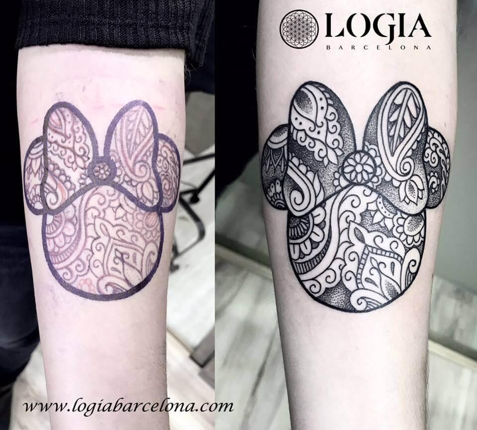 Mandala Minnie Mouse Tatuajes Logia Barcelona