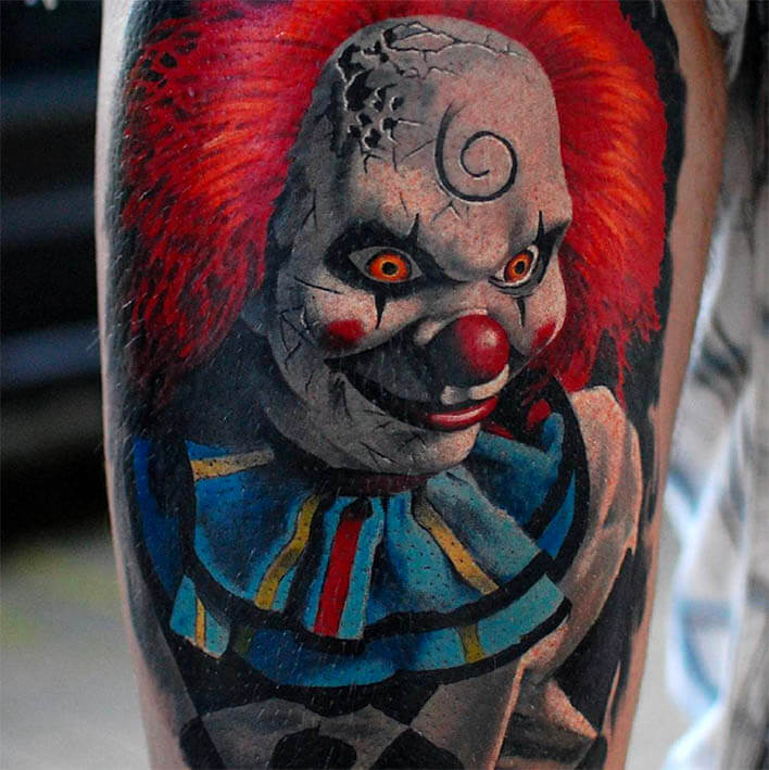 tattoo halloween payaso terror