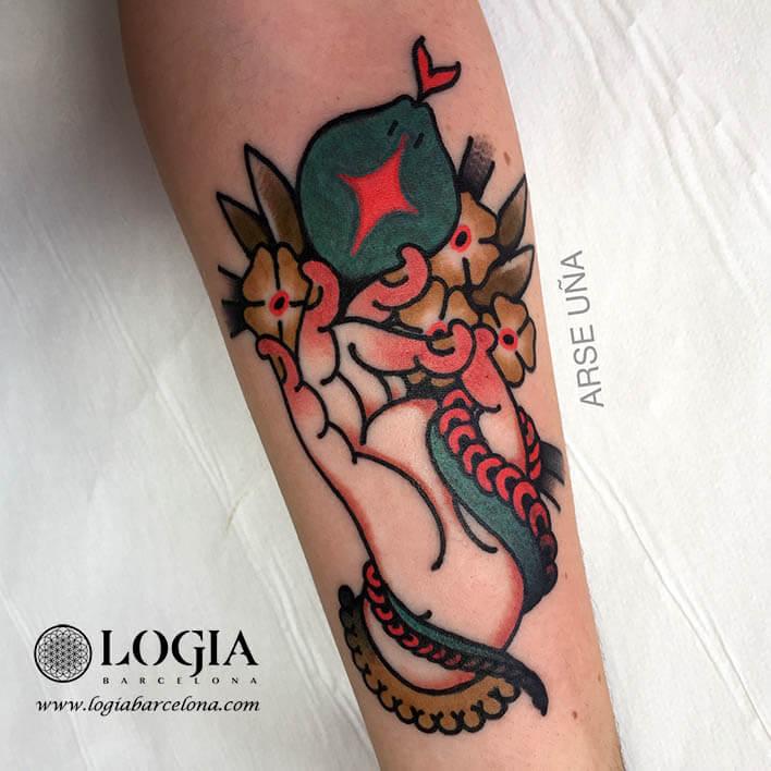 tatuaje tradicional brazo buda logia barcelona arse 02