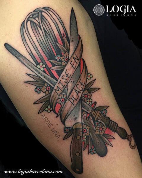 tatuajes de utensilios de cocina tatuajes logia barcelona