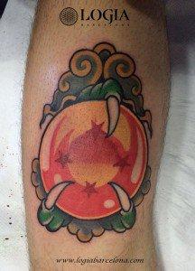tatuaje bola de dragon